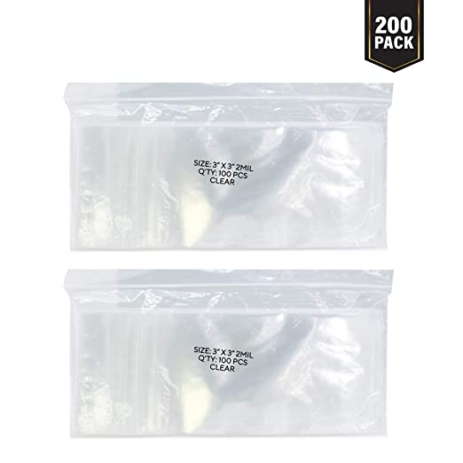 "1000 5x6 2MIL Reclosable Clear Ziplock Plastic Bags 5/"" x 6/"""