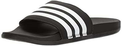 timeless design 01a87 772db adidas Womens Adilette Cloudfoam+ Slide Sandal WhiteBlack, ...