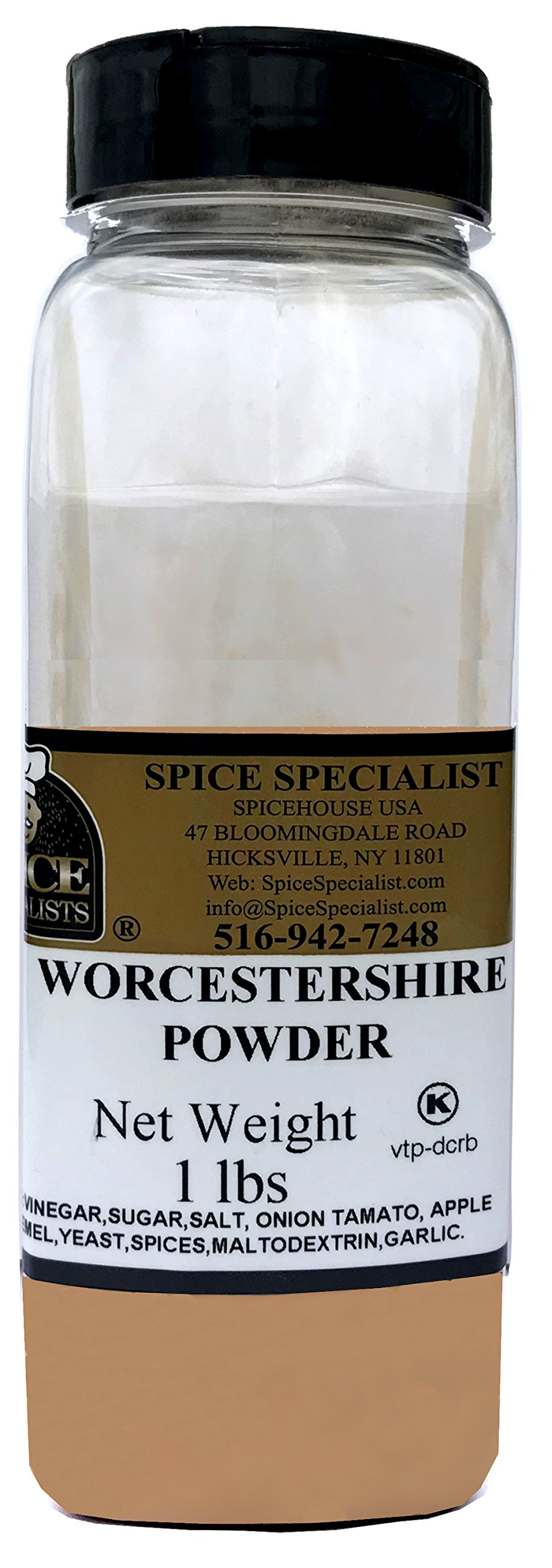 Chef Cherie's Worcestershire Powder - 1 lb in Plastic Container