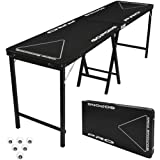GoPong PRO 8 Foot Premium Beer Pong Table - Heavy Duty (Black, 36-Inch Tall)