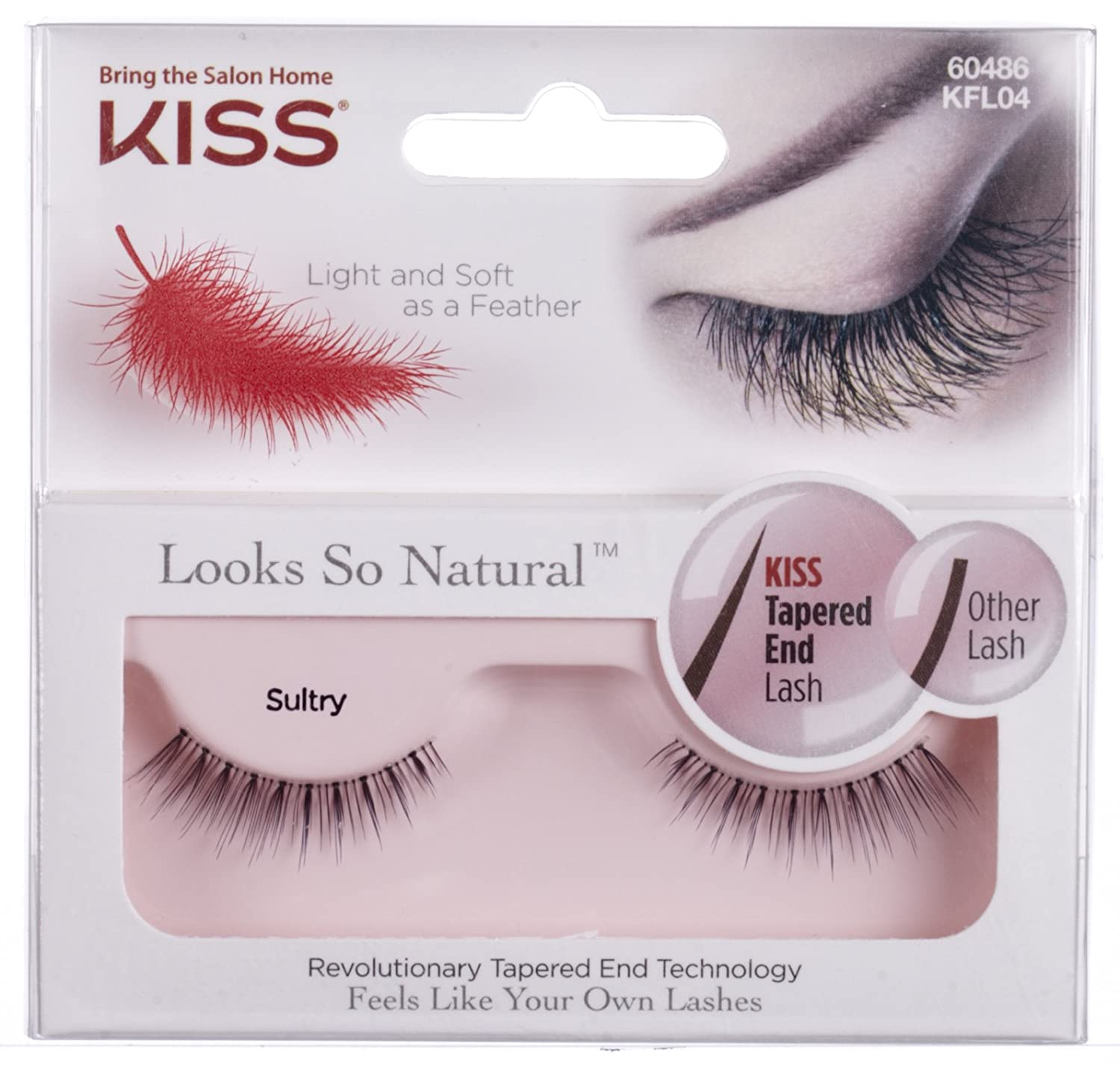 8a91f529fd3 Amazon.com : Kiss Products Looks So Natural Lashes, Sultry, 0.03 Pounds  (Pack of 3) : Beauty