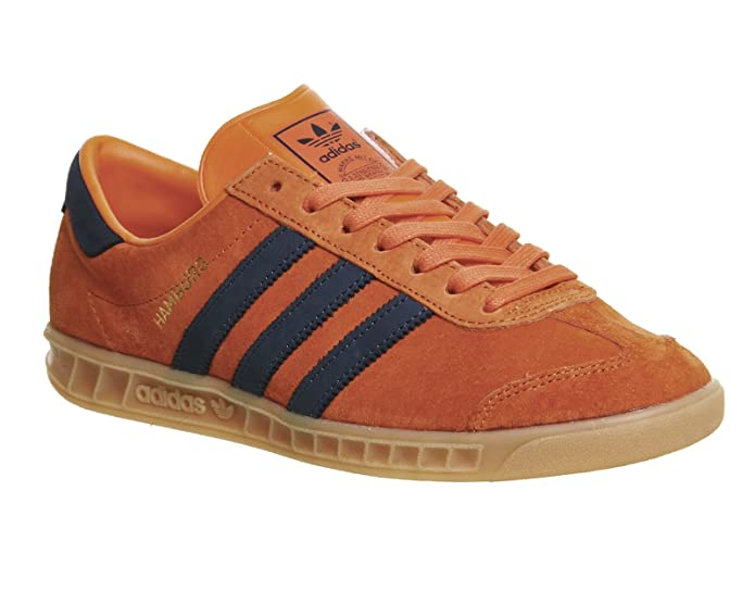 adidas Hamburg Herren/Damen Unisex Schuhe orange mit schwarzen Streifen