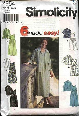 Simplicity Schnittmuster 7954 Kleider, Größe UK 6-10/leicht erhöhte ...