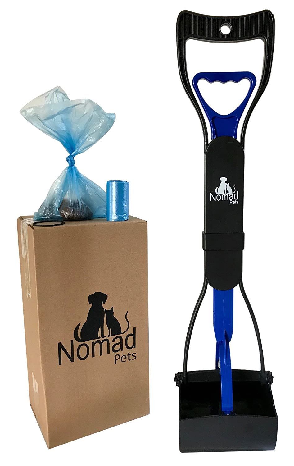 Complete Pooper Scooper Set for Dogs with Large Poop Bags Included - Best for Small, Medium, Large, XL Pets - Long Handle Scoop - Portable and Heavy ...