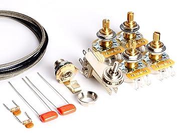 amazon com toneshaper guitar wiring kit for es 335 modern wiring rh amazon com