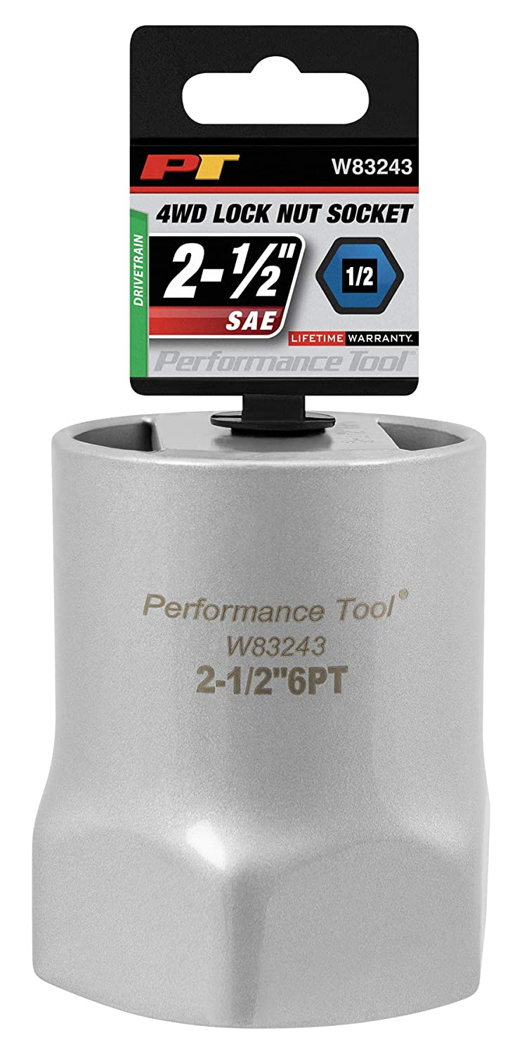 2-9//16 Used on Dodge trucks with Dana 60 manual hubs Performance Tool W83245 1//2 Drive Rounded Lock Nut Socket