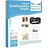 """Sublimation Paper - Heat Transfer Paper 100 Sheets 8.3"""" x 11.7"""" for Any Epson HP Canon Sawgrass Inkjet Printer with Sublimati"""