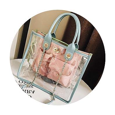 Amazon.com: Bolso de plástico transparente para mujer, bolsa ...