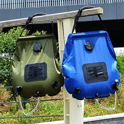 Cftrum Camping Ducha 20l Portátil Bolsa Solar Plegable Para Pvc wPn0kO8