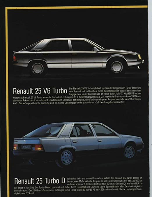 Amazon.com: 1986 Renault 5 9 11 25 Jeep Alpine Espace Cherokee Brochure German: Entertainment Collectibles
