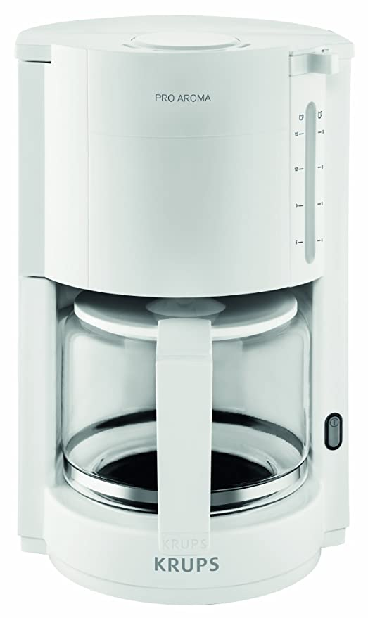 Krups F30901 Independiente - Cafetera (Independiente, Cafetera de filtro, 1050 W, Blanco)