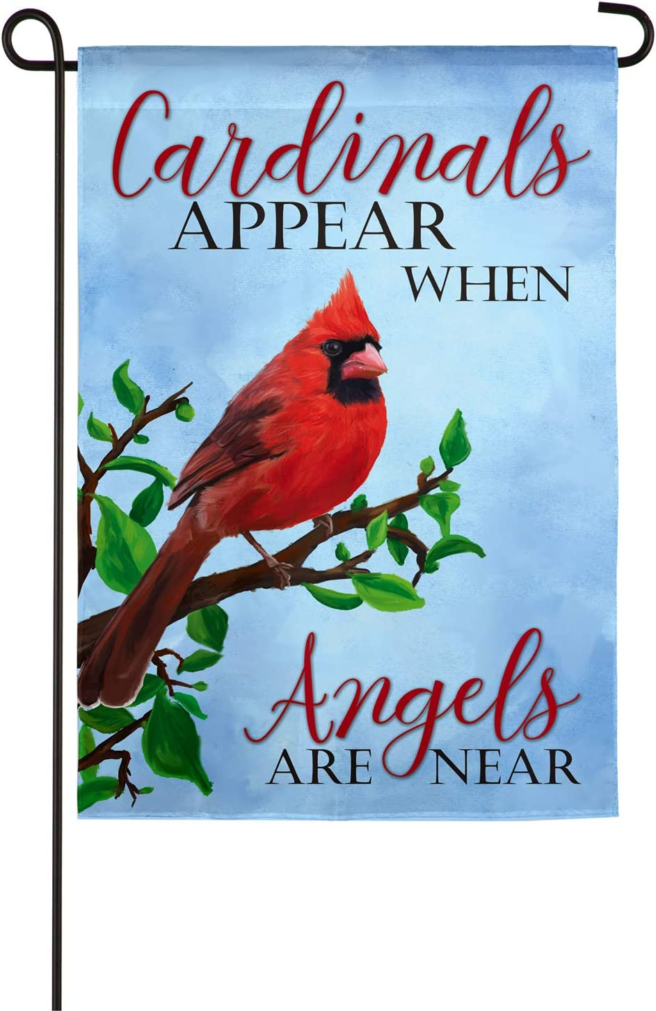 Evergreen Flag Beautiful Christmas Angels and Cardinals Suede Garden Flag - 13 x 18 Inches Fade and Weather Resistant Outdoor Decoration for Homes, Yards and Gardens