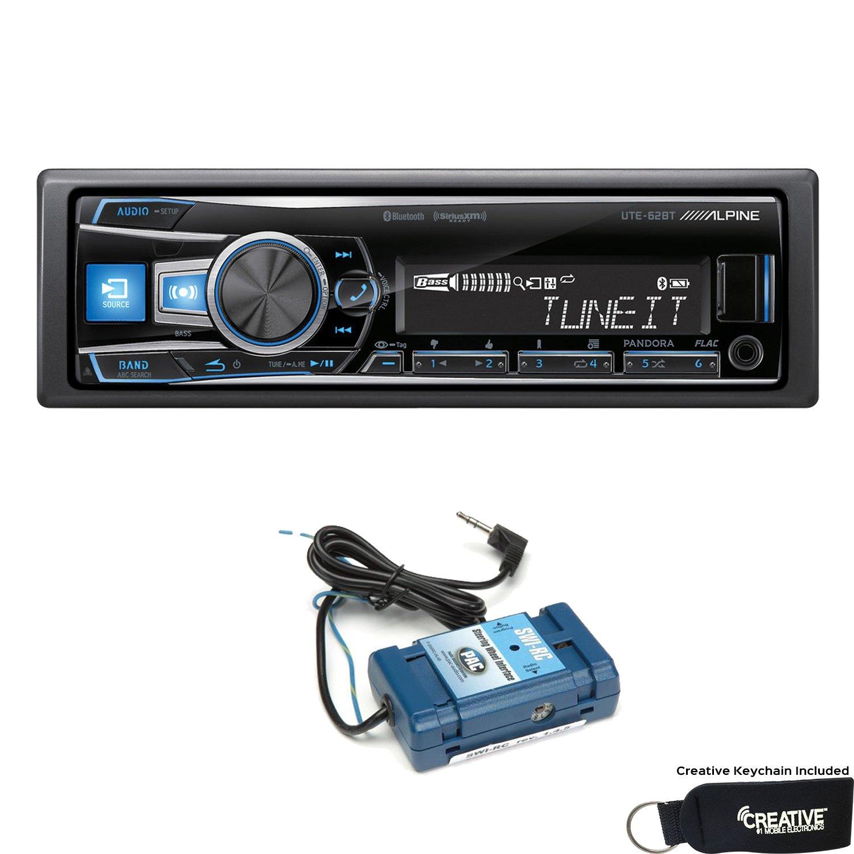 Alpine UTE-62BT Advanced Bluetooth Media Receiver with Steering Wheel Control Interface bundle
