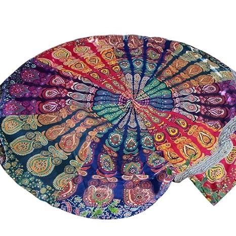 LHWY Ronda Hippie Tapiz Playa De Tiro Redondo Mandala Toalla Yoga Mat Bohemio