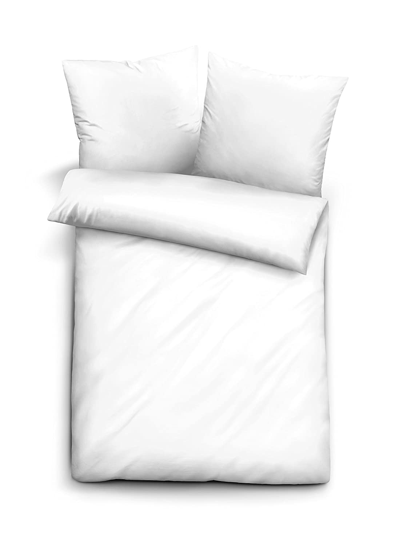 Biberna 0065600 0065600 0065600 Baumwoll-Satin Bettwäsche, 2x 80 x 80 cm + 200 x 200 cm, kornblau B01EWWNIVE Bettwsche-Sets 84a75e