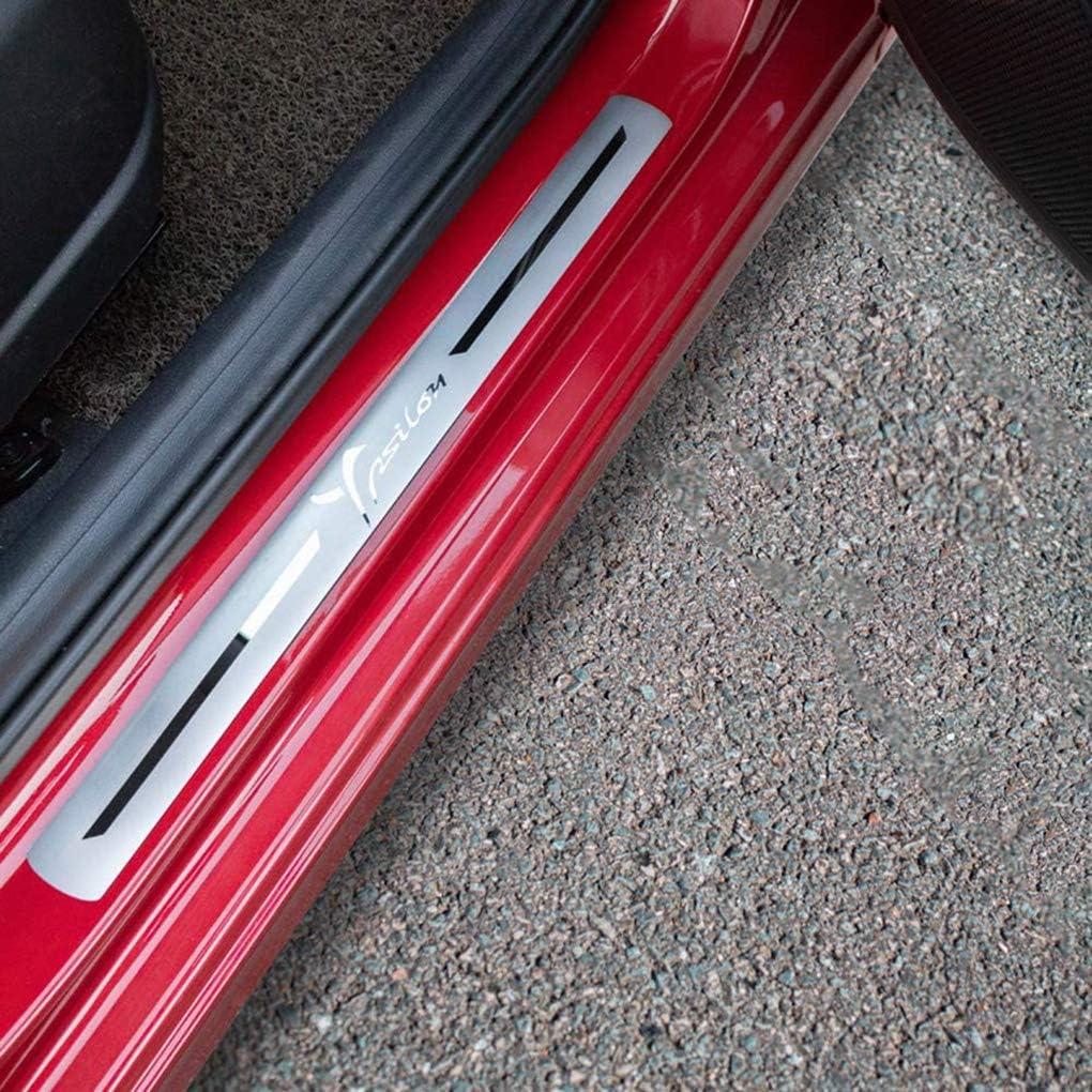 Door Sill Kick Plates WNMASS 4 Pezzi Auto Battitacco Protettore Pedale in Acciaio Inossidabile Soglia Graffi per LAN-CIA Chrysler Ypsilon
