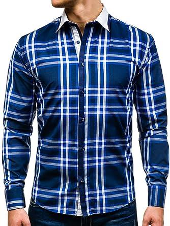 c029491e1eac BOLF Herren Freizeithemd Herrenhemd Klassisch Classic Hemd Slim Fit 2B2  Motiv  Amazon.de  Bekleidung