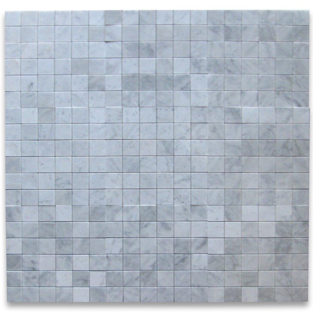 Carrara White Italian Carrera Marble Square Mosaic Tile 2 x 2 ...