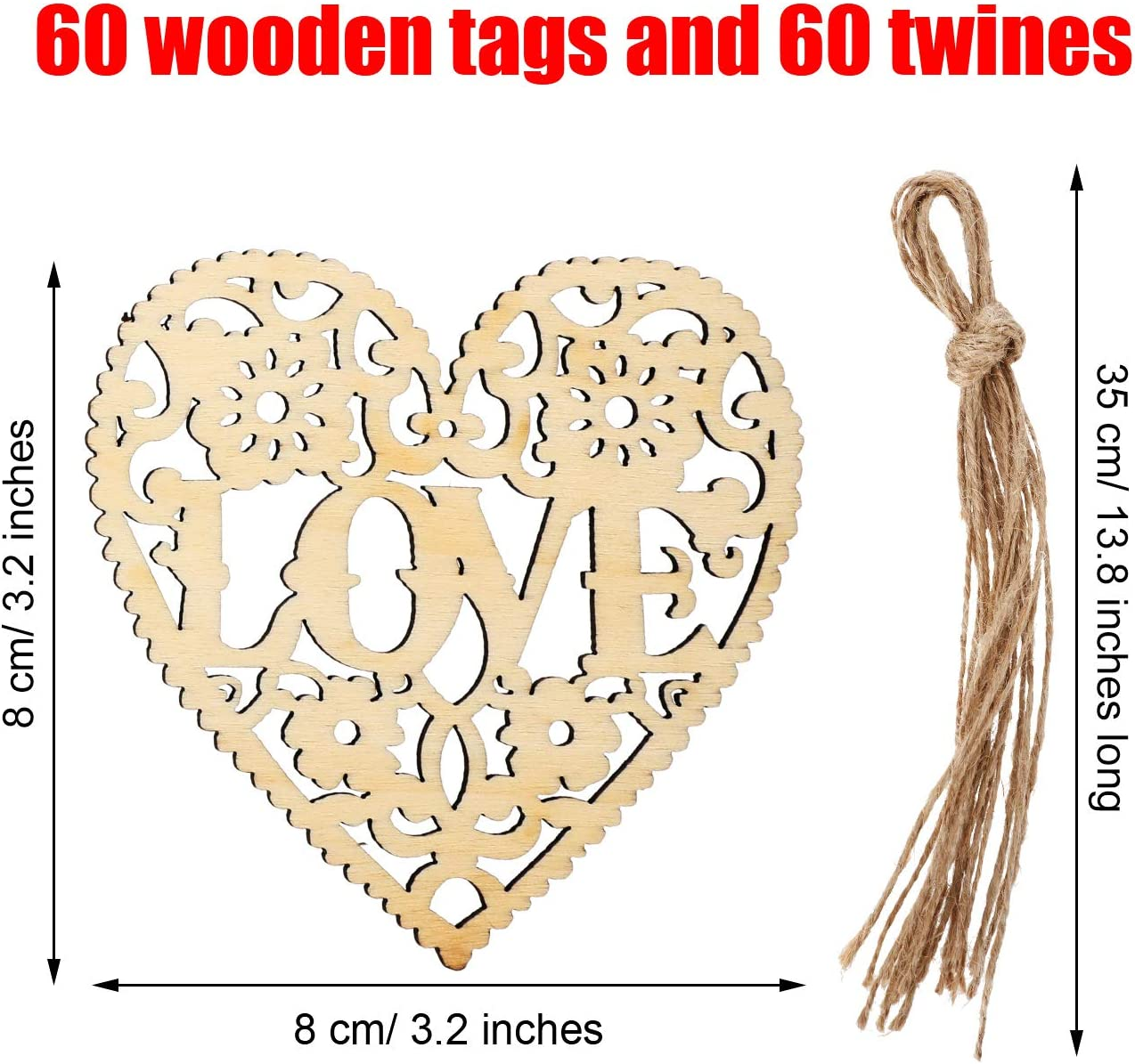 Wooden Heart Tag All You Need Is Love..and A Dog Gift Tag Hanging Decor