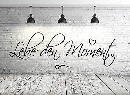 timalo® Wandtattoo Schlafzimmer, Wohnzimmer 68102-58x20cm, Text: Lebe den  Moment, Wandaufkleber Wandtatoos Sticker Aufkleber, Tapetensticker, ...