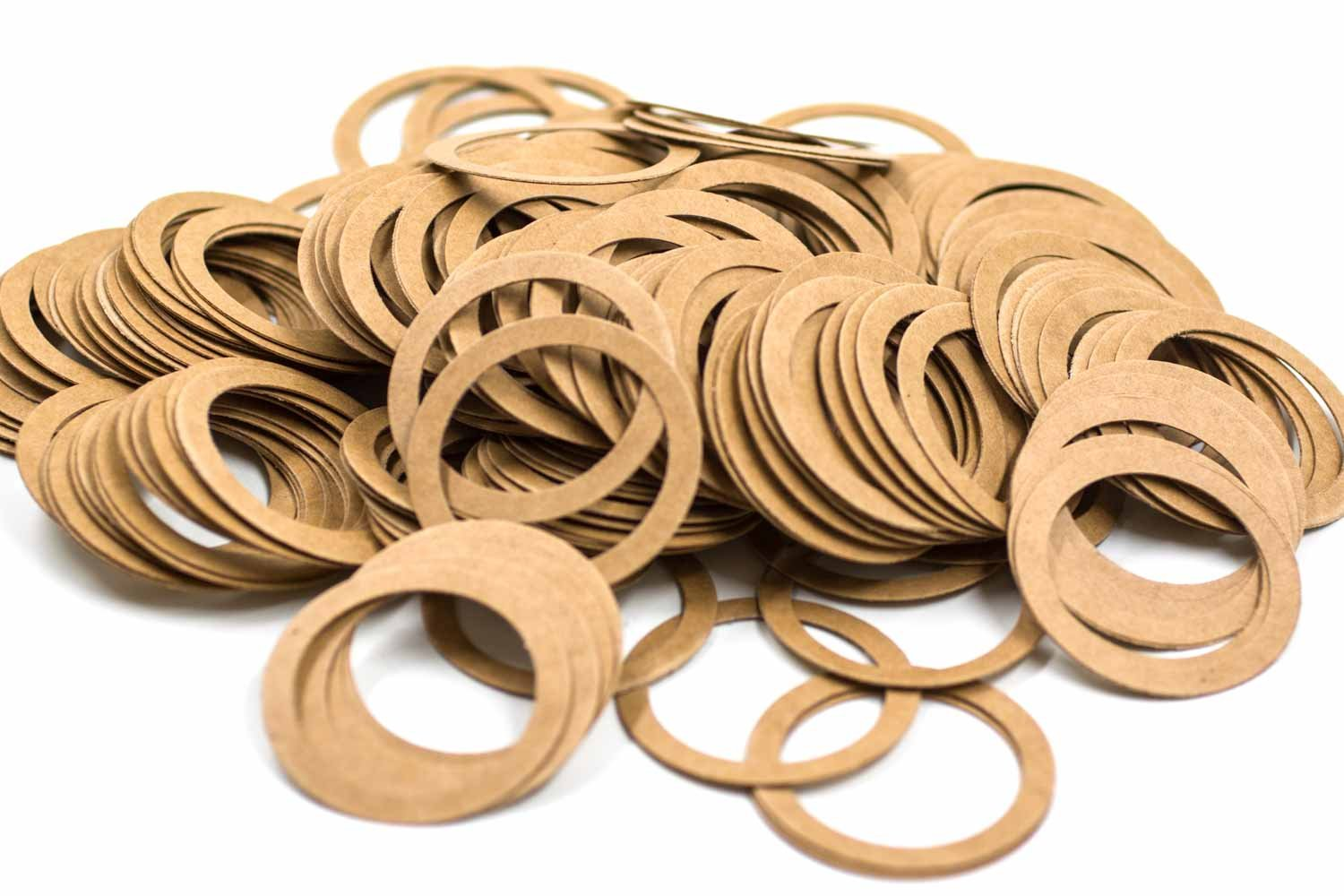 up to 110 /°C Made From Engineered High Quality Pressed Cardboard 200 Pieces Special Dimensions Flat Gasket Type PC 41 x 33 x 0.5 mm