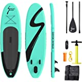 streakboard Inflatable Stand Up Paddle Board Surfing SUP Boards, No Slip Deck 6 Inches Thick ISUP Boards with Free SUP Accessories & Backpack, Leash, Paddle and Hand Pump, for All Levels