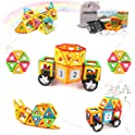 48-Pc Amosting Magnetic Tiles Building Block Set