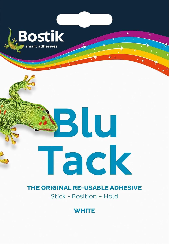 Bostik 801127 - Masilla adhesiva reutilizable, no tóxica, 60 g, 12 unidades, color blanco