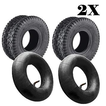 jueyan 2 pieza Césped Cortacésped Neumáticos 15 x 6.00 - 6 ...