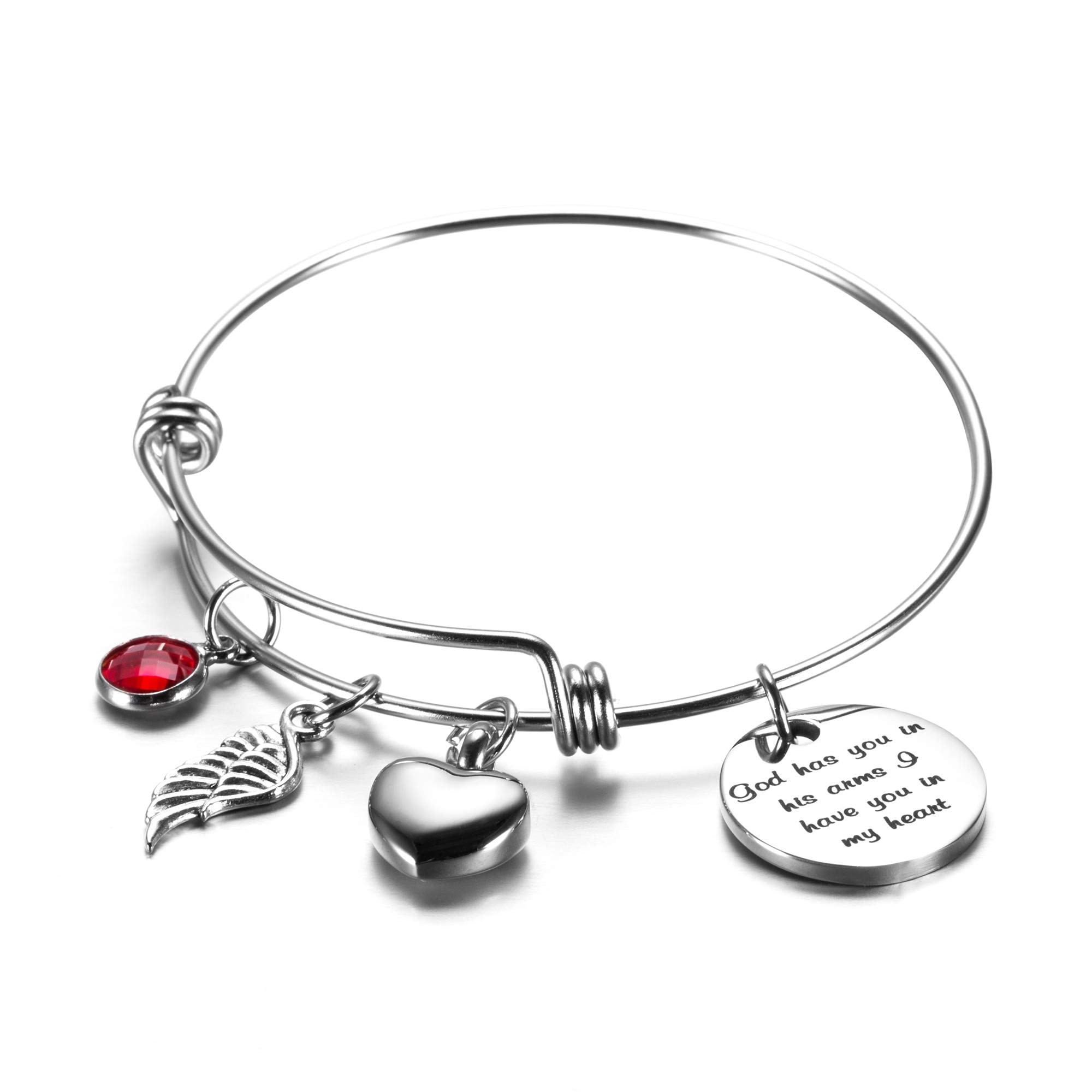Urn Bracelet God has You in his arm Cremation Jewelry for Ashes Memories Bracelet for Women Mom Sympathy Gift (God has You in his arm)