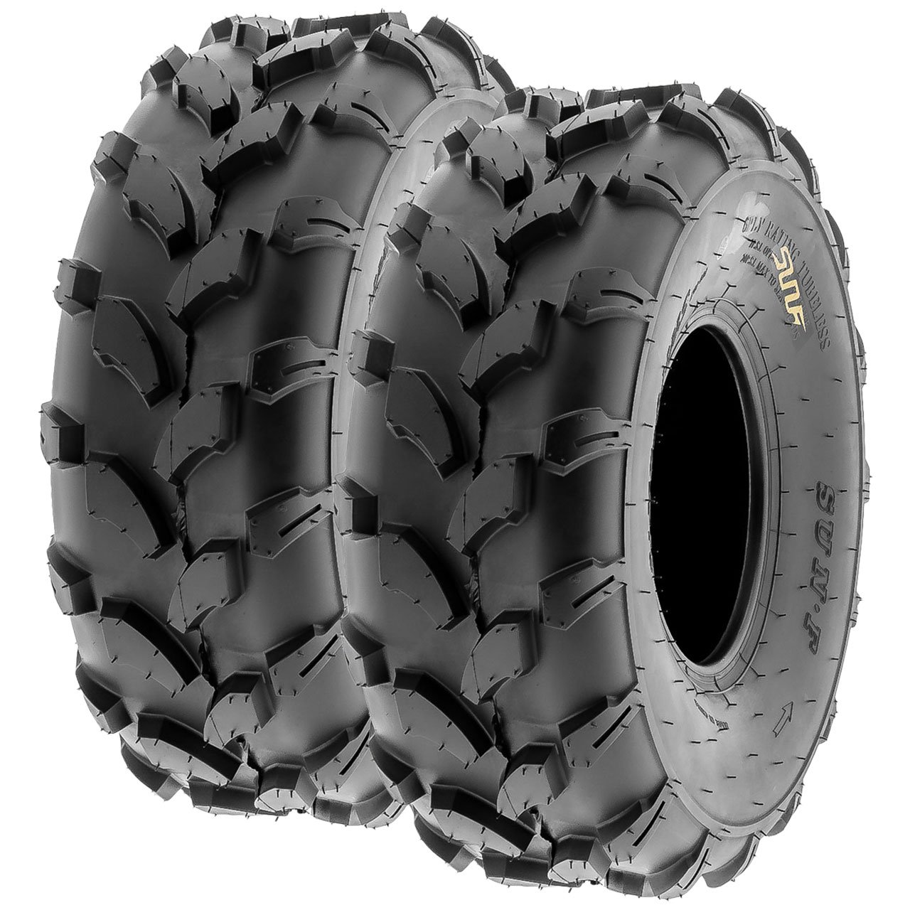 SunF A003 ATV/UTV/Lawn-Mowers Off-Road Tire 18x7-8, 6 PR, Directional Tread (Pair of 2)