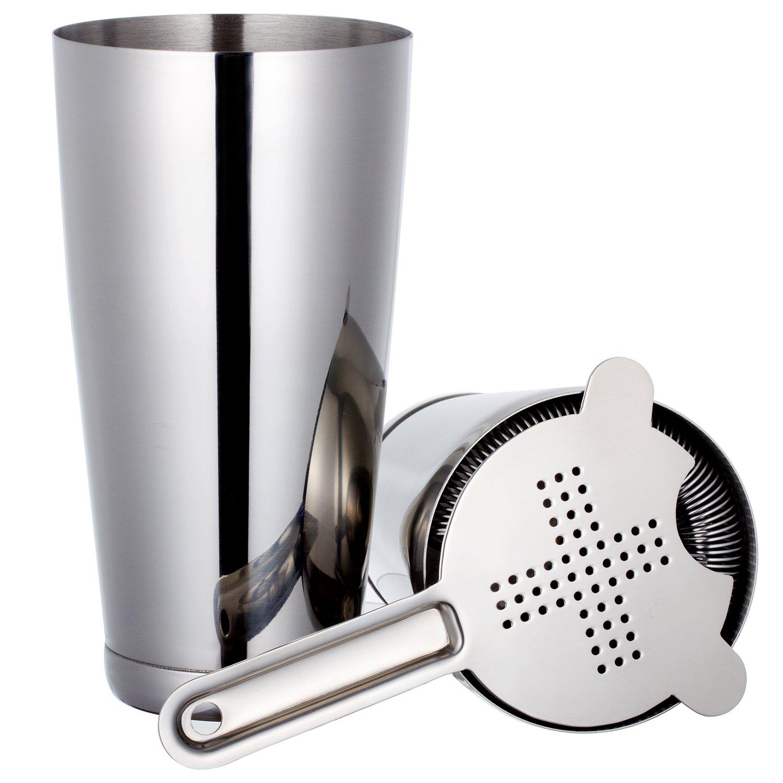 Edelstahl Boston Shaker: 3-teilig Set: 550ml&750ml Profi Cocktail ...