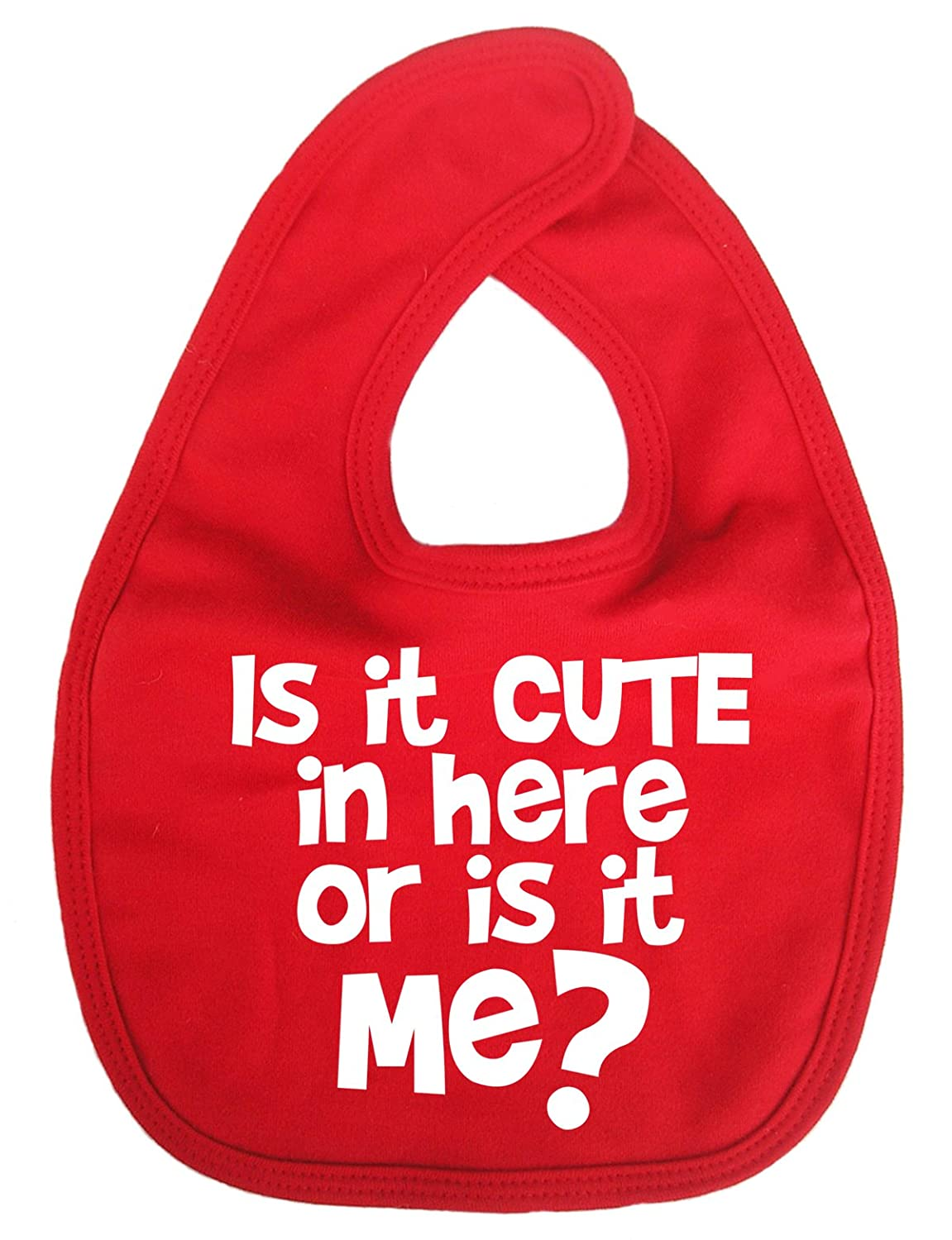 Dirty Fingers, Is it Cute in Here or is it Me, Baby Unisex Bib, Blue DFBIBcuteinhereB