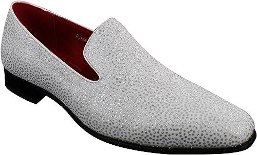 mens shiny black loafers