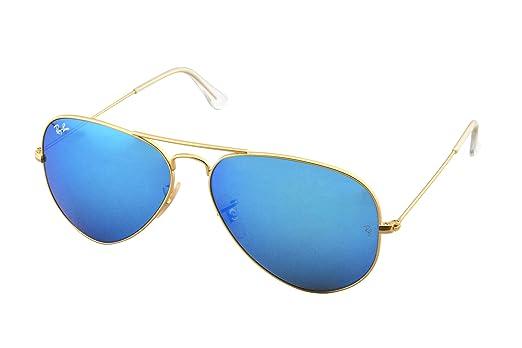 a1d946d6a Ray-Ban Aviator RB3025 - Espelhado - Dourado/Azul - 112-17/58 ...