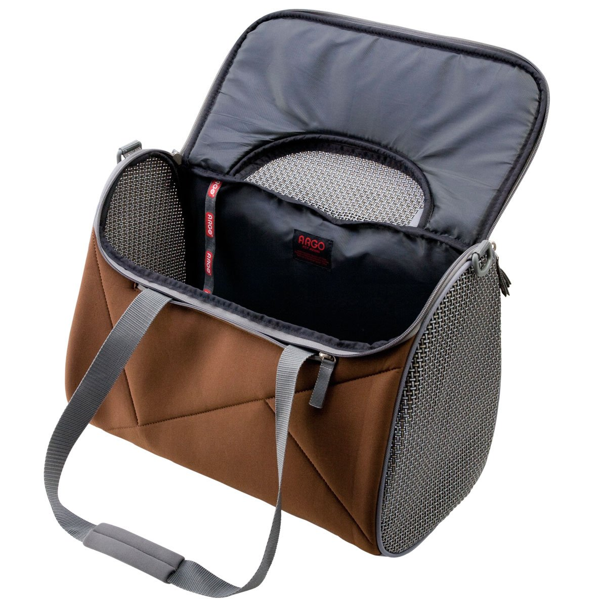 Chocolate Brown ARGO by Teafco Pet Avion Airline Approved Pet Carrier Medium 17-Inch Length x 9-Inch Width x 12-Inch Height