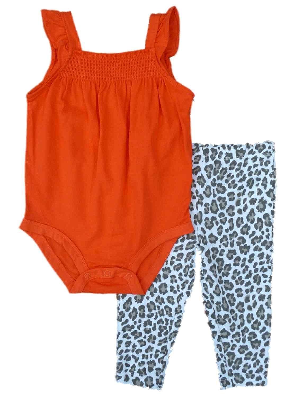 722295067 Amazon.com  Carters Infant Girls Red Romper   Leopard Print Leggings ...