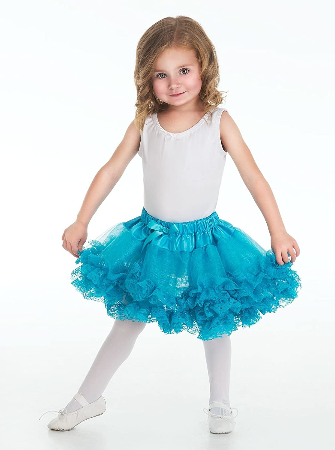 Teal Lace Tutu Medium ages 3-8 by Little Adventures