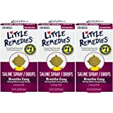 Little Remedies Saline Spray and Drops | Safe for Newborns | 0.5 Fl Oz (Pack of 3)