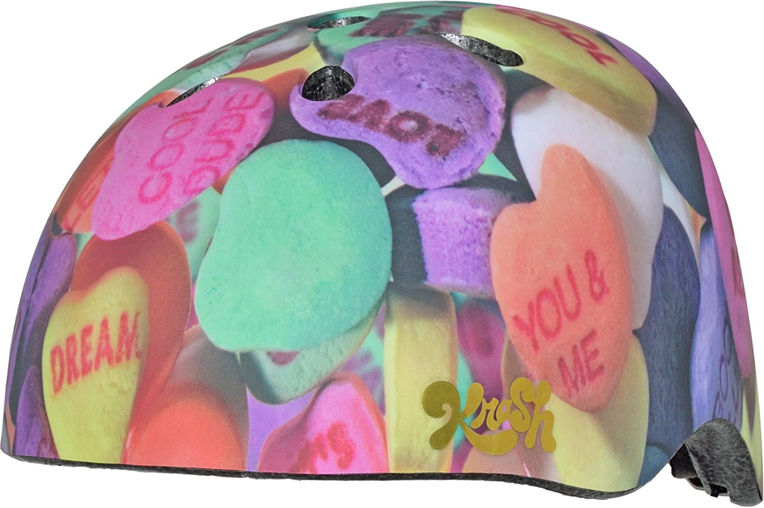 Krash Bell Candy Hearts Youth Multisport Helmet