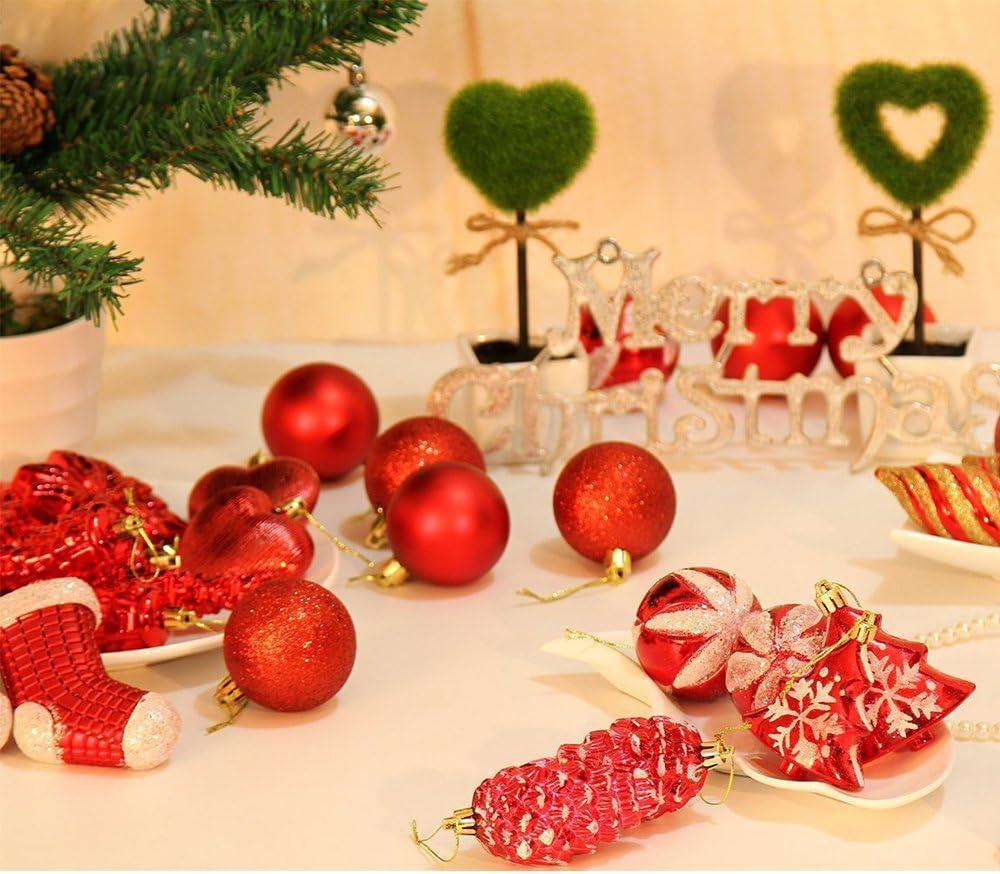 1.57, Dark Blue Imixshopcs 24pcs Christmas Tree Xmas Balls Decorations Baubles Festival Party Wedding Ornament Home Decor