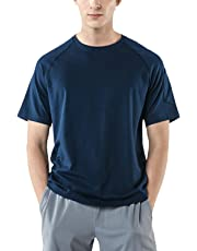 Tesla Men's HyperDri & Dynamic Cotton Short Sleeve Athletic T-Shirt Quick Dry Sports Top MTS Series