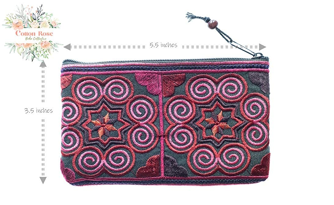 Cotton Rose, Hippie Coin Purse, Tiny Coin Purse, Hippy Purse, Bohemian Purse, Gypsy Purse, Hippie Purses, Boho