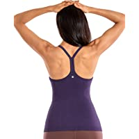 CRZ YOGA Workout Tank Tops for Women Racerback Tops Sports Shirts with Built in Bra