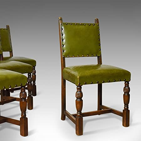 Fine Set Of Four Antique Dining Chairs Jacobean Revival English Bralicious Painted Fabric Chair Ideas Braliciousco