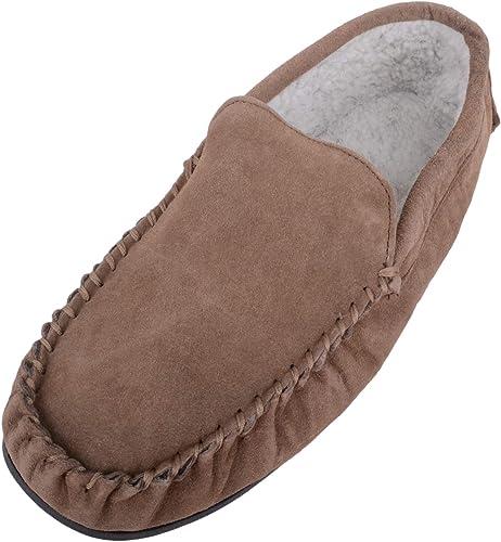 Zapatillas de andar por casa para hombre tipo mocasín con forro ...
