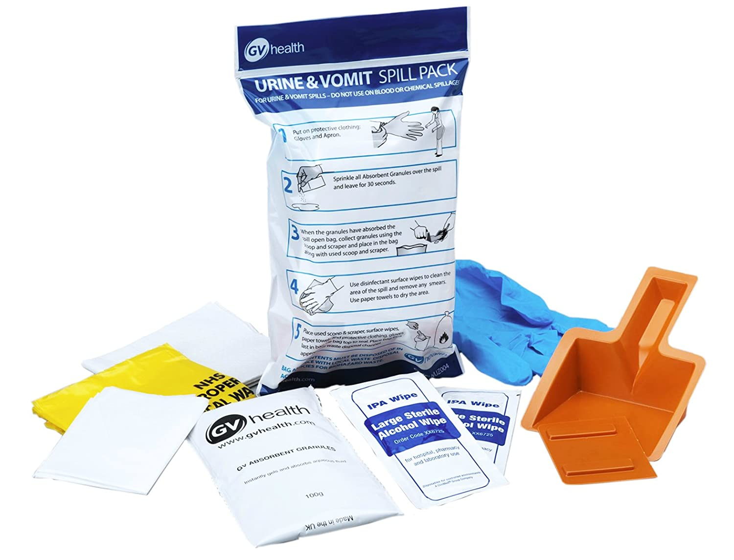 Blue apron drug test - Gv Health Vomit And Urine Spill Pack Amazon Co Uk Health Personal Care