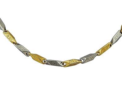 10c110a941d8 hanessa Hombre de joyas de oro Collar de cadena chapado en oro regalo para  el matrimonio de muñeco Amigo Hombres en Oro  Amazon.es  Joyería
