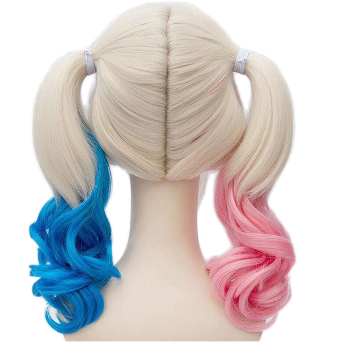 Amazon.com : Deifor Two Braids Hair Wigs for Suicide Squad Harley Quinn Cosplay Costume Wigs (Pink Blue Blonde) : Beauty