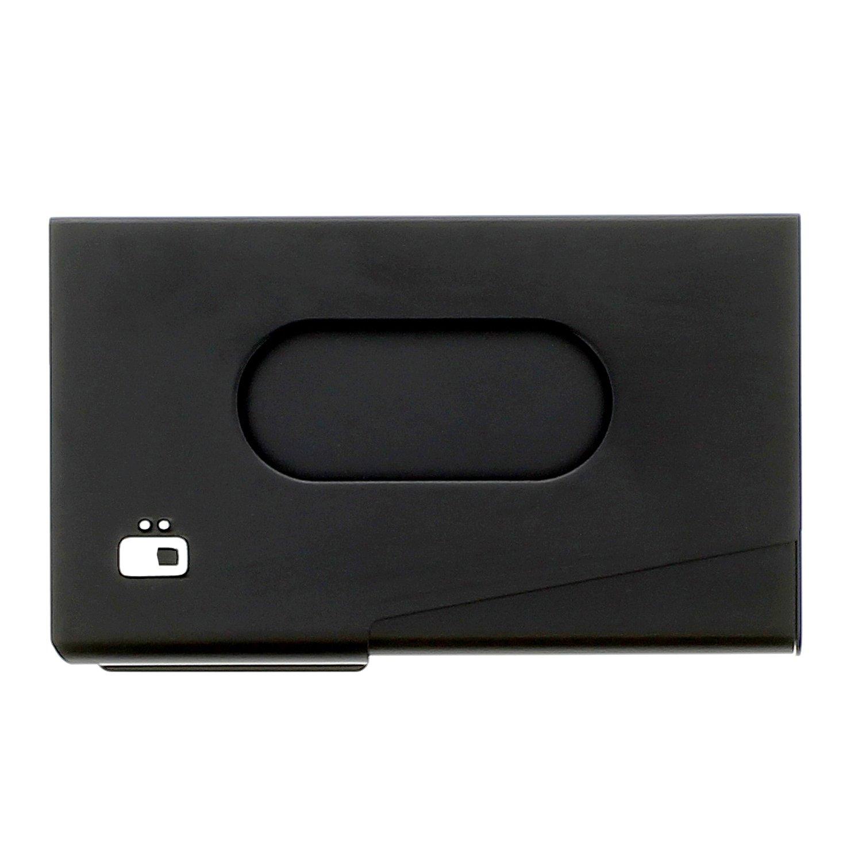 Ö gon One Touch Aluminium Visitenkartenspender Schwarz One Touch Black